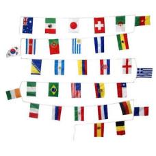 Ghirlanda di bandiere nazioni del mondo