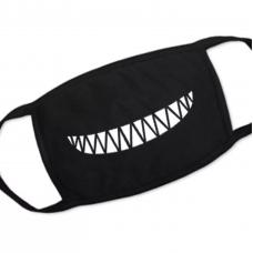 Mascherina in stoffa con denti