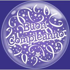 Palloncino bubble grande Buon Compleanno