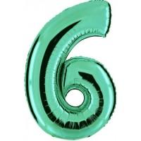 Palloncino numero 6 grande tiffany
