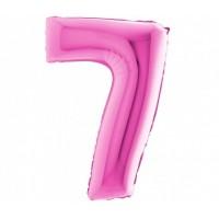 Palloncino numero 7 grande pink
