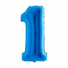 Palloncino numero 1 medio blu