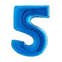 Palloncino numero 5 medio blu