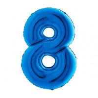 Palloncino numero 8 medio blu