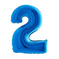Palloncino numero 2 medio blu