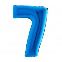 Palloncino numero 7 medio blu
