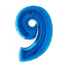 Palloncino numero 9 medio blu