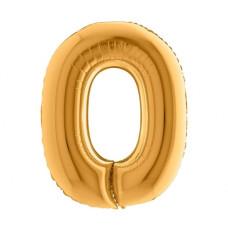 Palloncino numero 0 medio oro