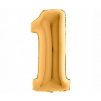 Palloncino numero 1 medio oro
