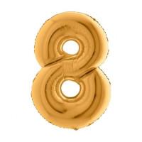 Palloncino numero 8 medio oro