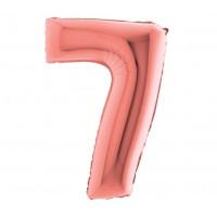 Palloncino numero 7 medio rosa oro