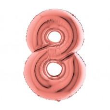 Palloncino numero 8 medio rosa oro