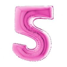Palloncino numero 5 medio pink