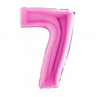 Palloncino numero 7 medio pink