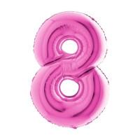 Palloncino numero 8 medio pink