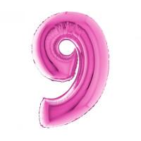 Palloncino numero 9 medio pink