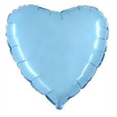 Palloncino forma a cuore medio celeste