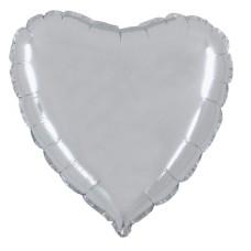Palloncino forma a cuore medio argento