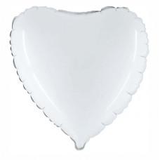 Palloncino forma a cuore medio bianco