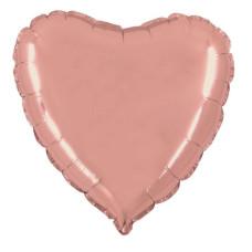 Palloncino forma a cuore medio rose gold