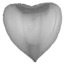 Palloncino forma a cuore grande argento