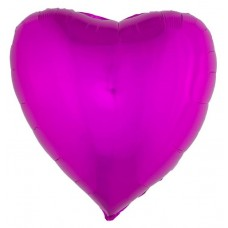 Palloncino forma a cuore grande fucsia