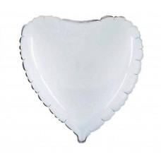 Palloncino forma a cuore piccolo bianco