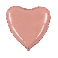 Palloncino forma a cuore piccolo rose gold