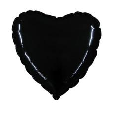 Palloncino forma a cuore piccolo nero