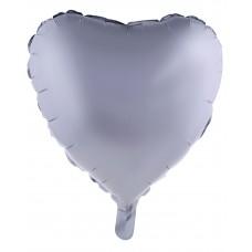Palloncino forma a cuore piccolo argento opaco