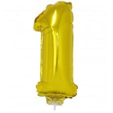 Palloncino numero 1 piccolo oro