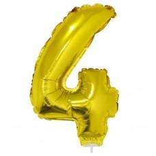 Palloncino numero 4 piccolo oro