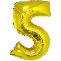 Palloncino numero 5 grande oro