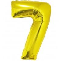 Palloncino numero 7 grande oro