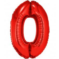 Palloncino numero 0 grande rosso