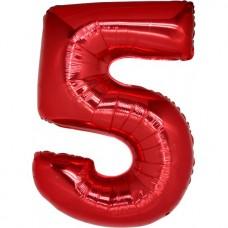 Palloncino numero 5 grande rosso