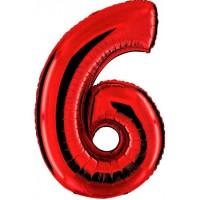 Palloncino numero 6 grande rosso