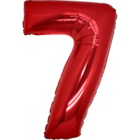 Palloncino numero 7 grande rosso