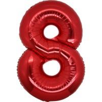 Palloncino numero 8 grande rosso