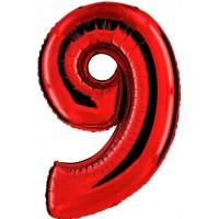 Palloncino numero 9 grande rosso