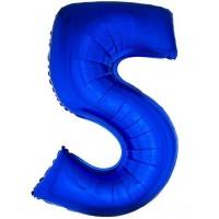 Palloncino numero 5 grande blu