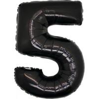 Palloncino numero 5 grande nero