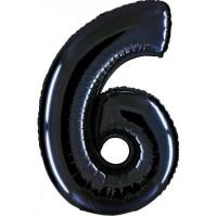 Palloncino numero 6 grande nero
