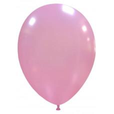 Palloncino forma ovale rosa metallizzato 20 pezzi