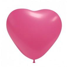 Palloncino forma a cuore fucsia 20 pezzi