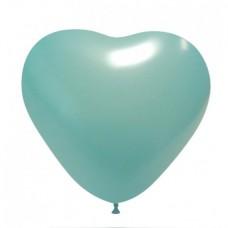 Palloncino forma a cuore celeste 20 pezzi