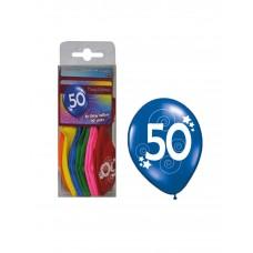 Palloncino 50 anni 12 pezzi