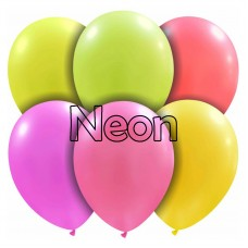 Palloncino forma ovale neon 20 pezzi