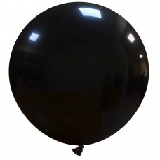 Palloncino forma tonda gigante nero