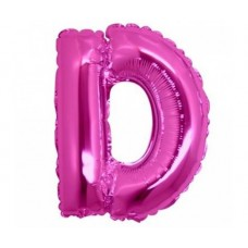 Palloncino lettera D piccola pink